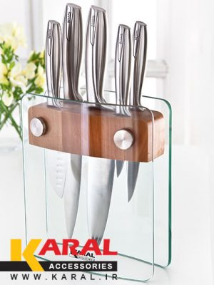 Karal BEAUTY SHARP stainless steel 6 pieces kitchen knife set with block