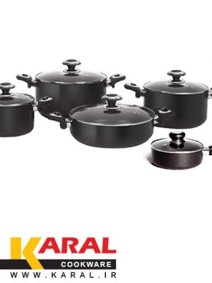 10 pieces Karal Hard Anodized Cookware Set (ATRINA model)