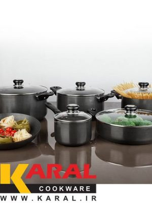 11 pieces Karal Hard Anodized Cookware Set (ROSE model)