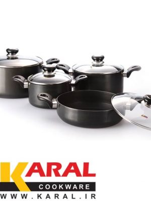 8 pieces Karal Hard Anodized Cookware Set (DIANA model)