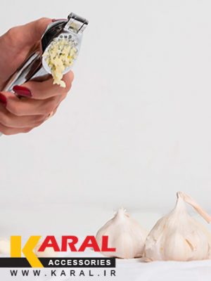 karal stainless steel diamond garlic press