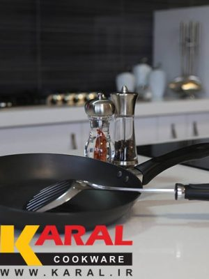 Karal Hard Anodized Frying Pan Size 26