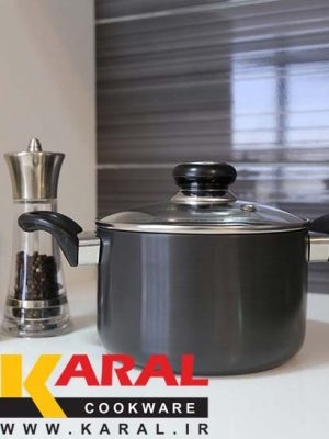 Karal Hard Anodized Pot Size 16