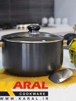 Karal Hard Anodized Pot Size 24