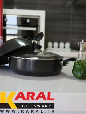 Karal Hard Anodized 3 Pieces Wok Set size 28