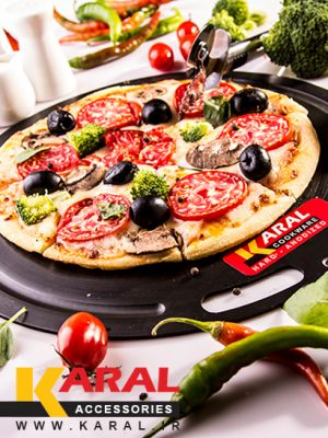 Karal Hard Anodized Pizza Plate And Multi-Purpose Board